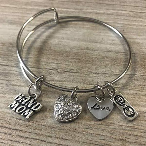 Band Mom Charm Bangle Bracelet - Sportybella