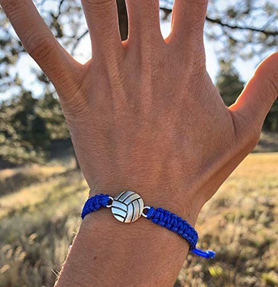 Volleyball Rope Bracelet - Blue