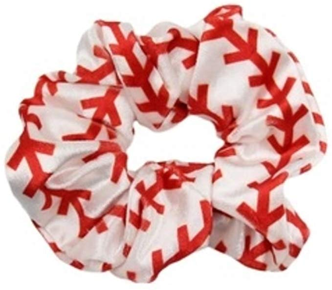 baseball scrunchie