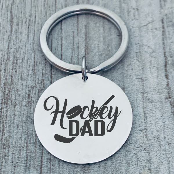 Engraved Field Hockey Keychain - She Believed She Could So She Did