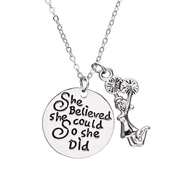 Cheer She Believed She Could So She Did Necklace