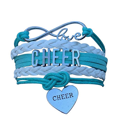 Cheer Infinity Heart Bracelet - Pick Team Colors