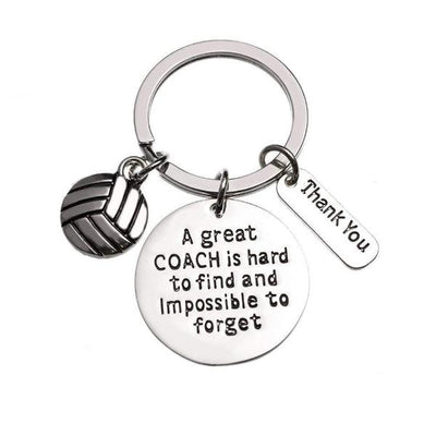 Volleyball Coach Keychain, Great Coach is Hard to Find Coach Keychain