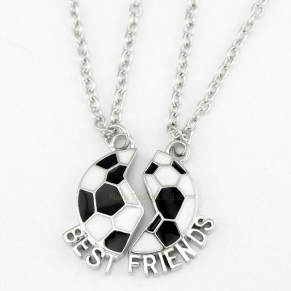 Girls Soccer Friendship Necklace Set - Sportybella