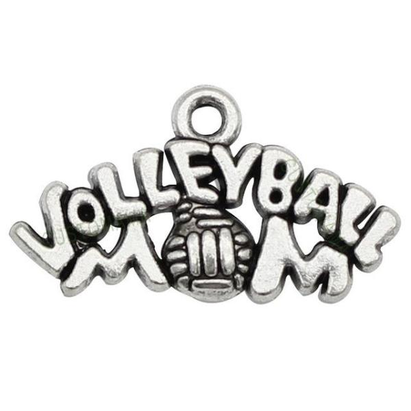 Volleyball Mom Charm - Sportybella