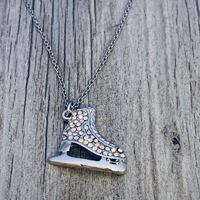 girls Figure Skating Rhinestone Necklace