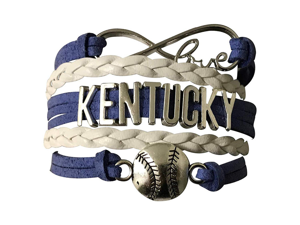 Infinity Collection Kentucky Baseball Bracelet, Kentucky Baseball Jewelry-Perfect Gift