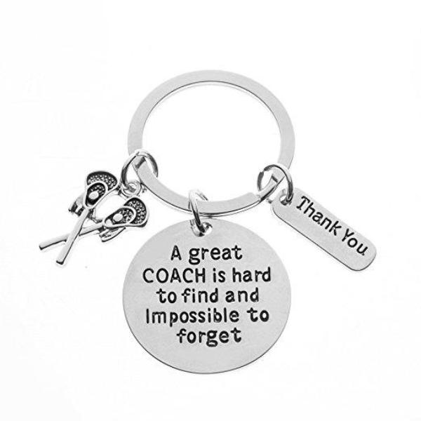 Lacrosse Great Coach is Hard to Find Coach Keychain - Sportybella