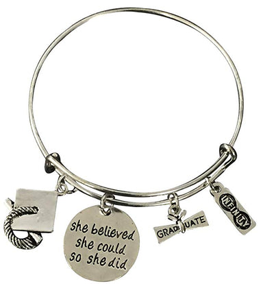 Graduation She Believed She Could So She Did Bracelet