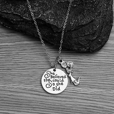 Cheer She Believed She Could So She Did Necklace - Sportybella