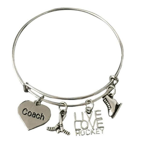 Hockey Coach Bangle Bracelet - Sportybella