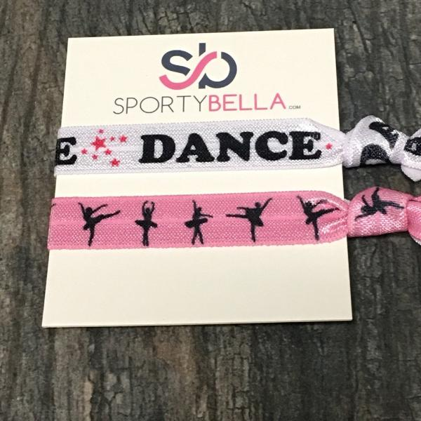 Dance Hair Ties - 2pc - Sportybella