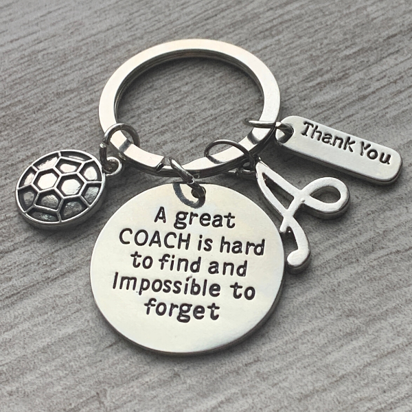 Personalized Great Soccer Coach is Hard to Find Keychain