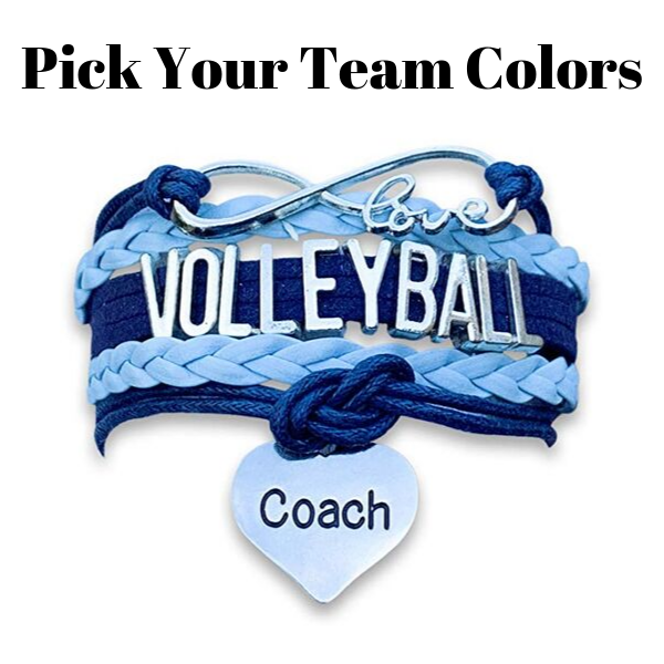 Volleyball Coach Bracelet - Pick Your Team Colors