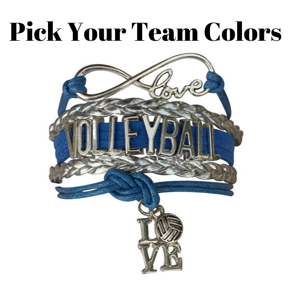 Volleyball Love Bracelet - Pick Your Team Colors