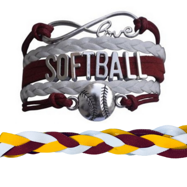 Softball Jewelry Set (Bracelet & Headband) - Sportybella