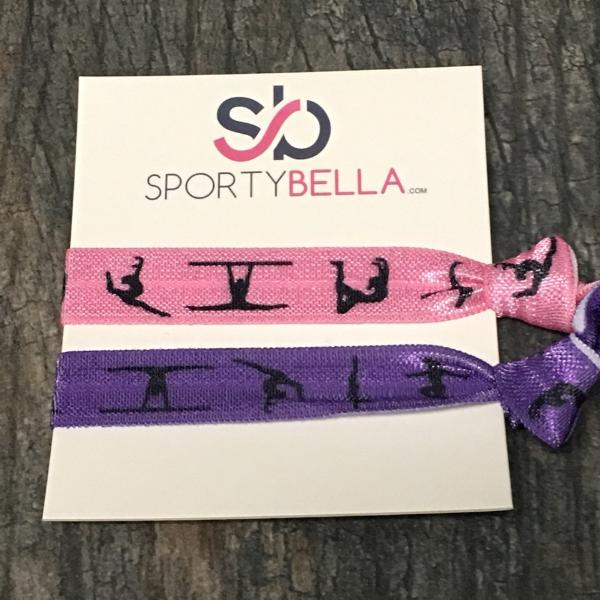 Gymnastics Hair Ties - 2pcs - Sportybella