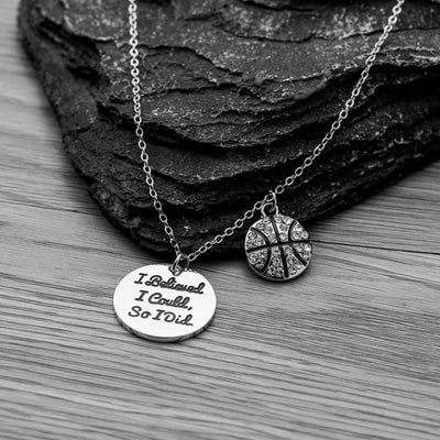 Basketball I Believed I Could So I Did Necklace - Sportybella