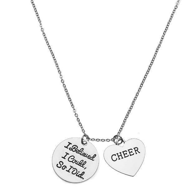 Cheer I Believed I Could So I Did Necklace - Sportybella
