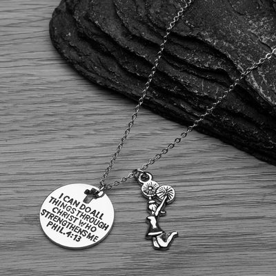 Cheer I Can Do All Things Through Christ Who Strengthens Necklace