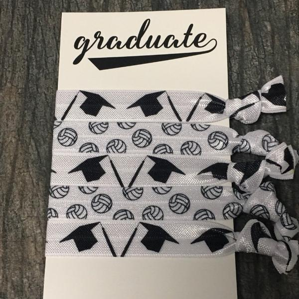 Graduation Volleyball Hair Ties Set - Sportybella