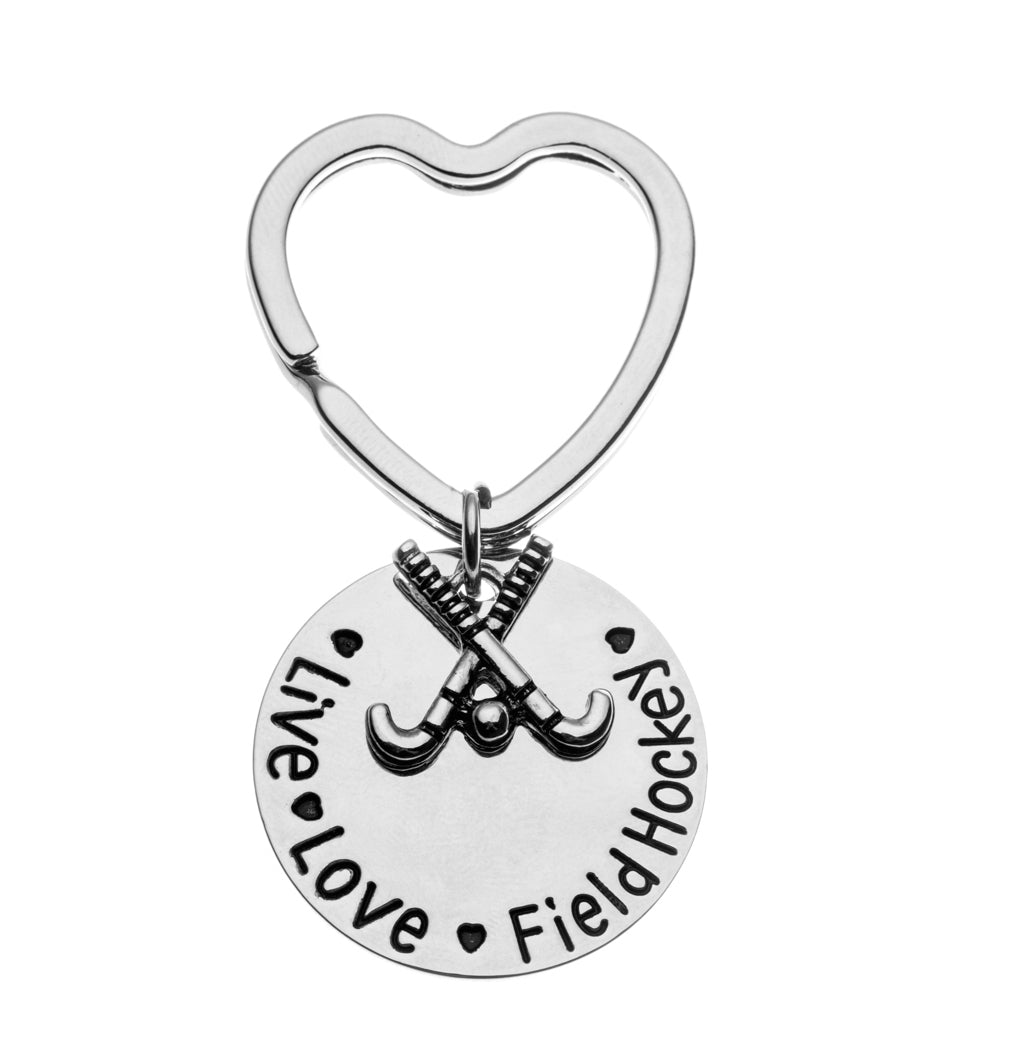 Live Love Field Hockey Keychain - Sportybella