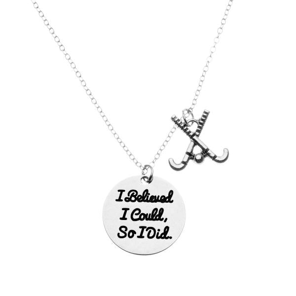 Field Hockey I Believed I Could So I Did Keychain - Sportybella