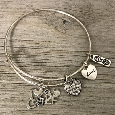 Love Golf Bangle Bracelet