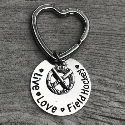 Field Hockey Live Love Keychain - Sportybella