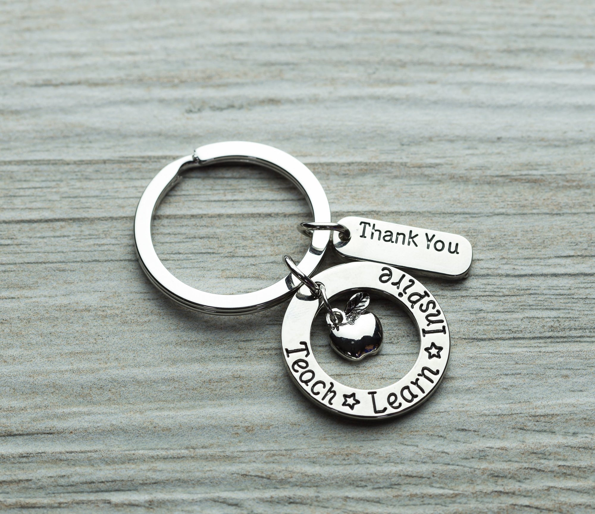Teach Learn Inspire Keychain