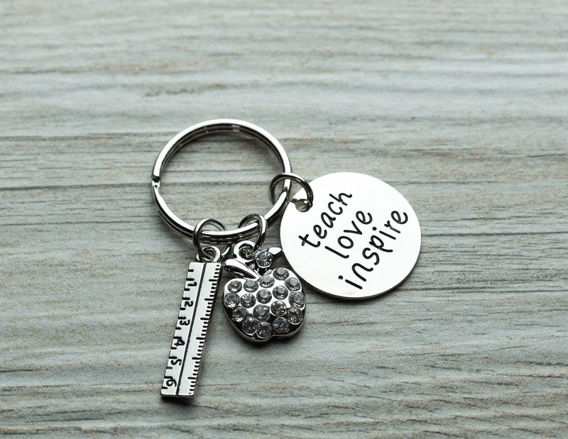 Teach Love Inspire Keychain