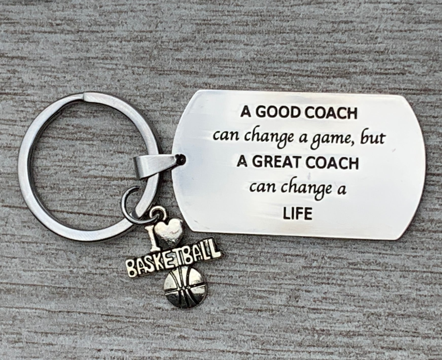 Sportybella Field Hockey Coach Keychain Field Hockey Coach Gifts A Good Coach Can Change a Game But a Great Coach Can Change a Life Stainless Steel Keychain
