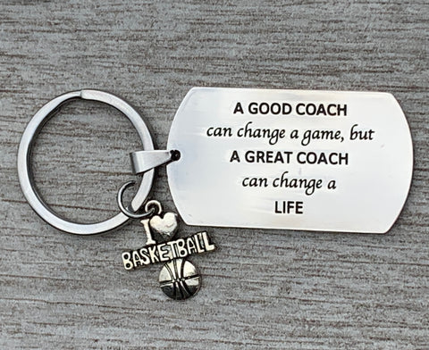 Basketball & Volleyball Great Coach is Hard to Find Keychain