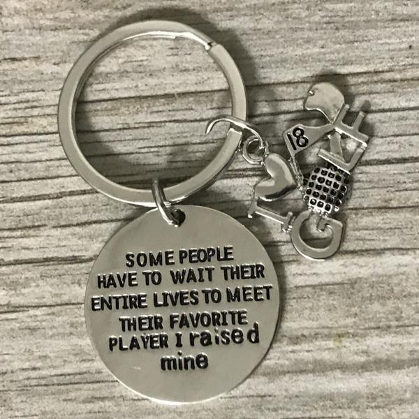 Golf Favorite Player Keychain for Mom and Dad