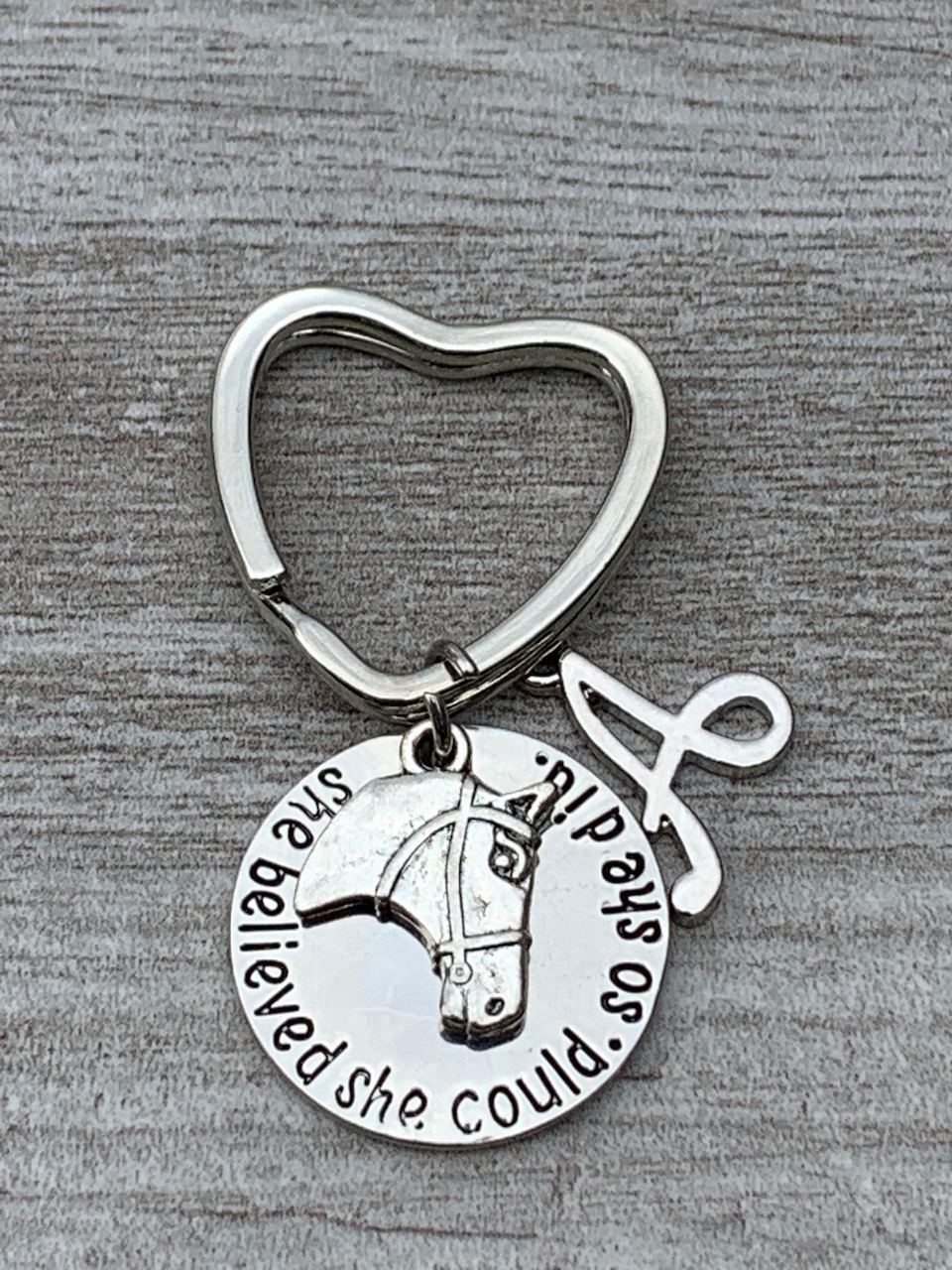 Personalized Horse She Believed She Could So She Did Keychain