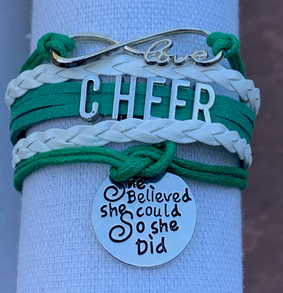 Cheer Bracelet- She Believed She Could - Sportybella