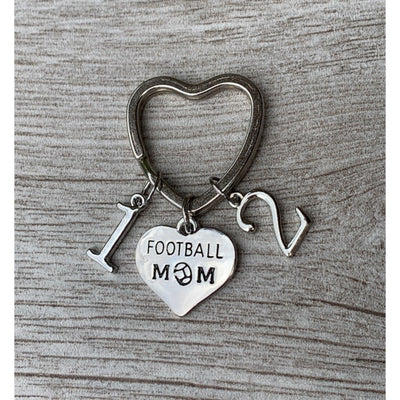 Football Mom Keychain with Players Numbers