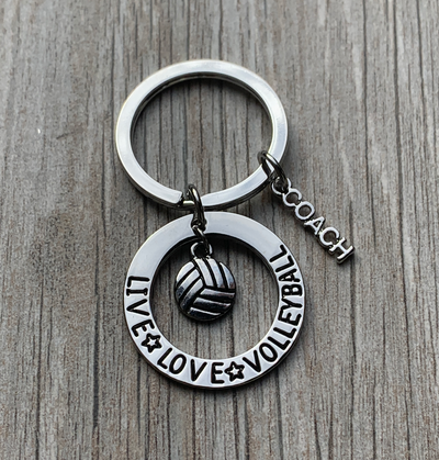Volleyball Coach Keychain- Live Love Volleyball