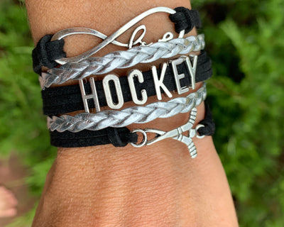Girls Ice Hockey Infinity Bracelet Hockey Gift