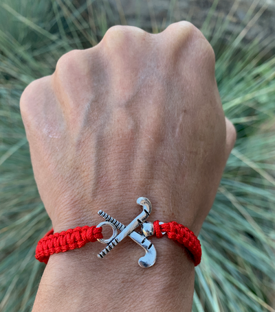 Field Hockey Rope Bracelet - Red