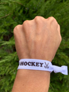 Girls Orange Ice Hockey Hair Ties