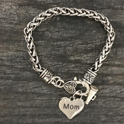 Cheer Mom Rope Chain Charm Bracelet - Sportybella