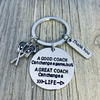 Lacrosse Coach Keychain, A Good Coach Can Change a Game But a Great Coach Can Change a Life