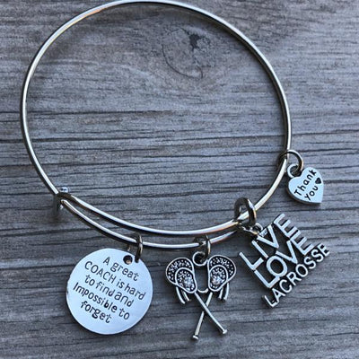 Lacrosse Great Coach Is Hard to Find Bangle Bracelet