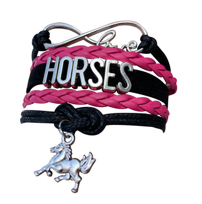Horse Bracelet and Hair Ties Set- Pink