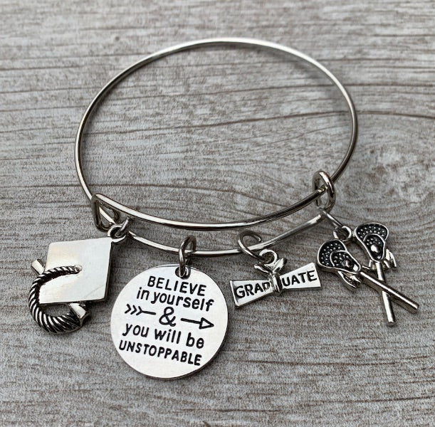 Lacrosse Graduation Bracelet - Believe In Yourself