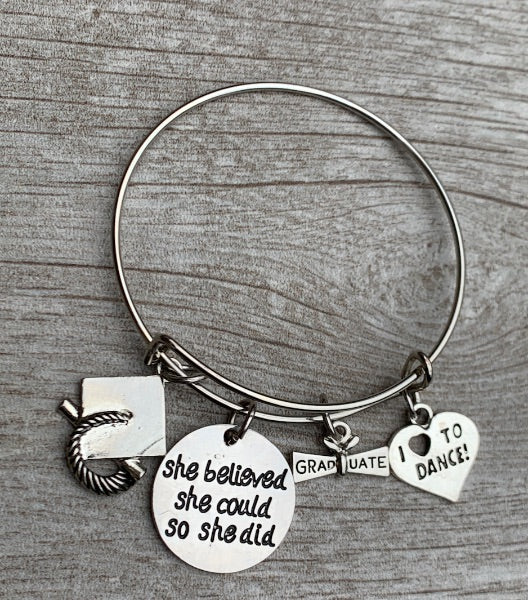 Dance Graduation Bracelet - She Believed She Could