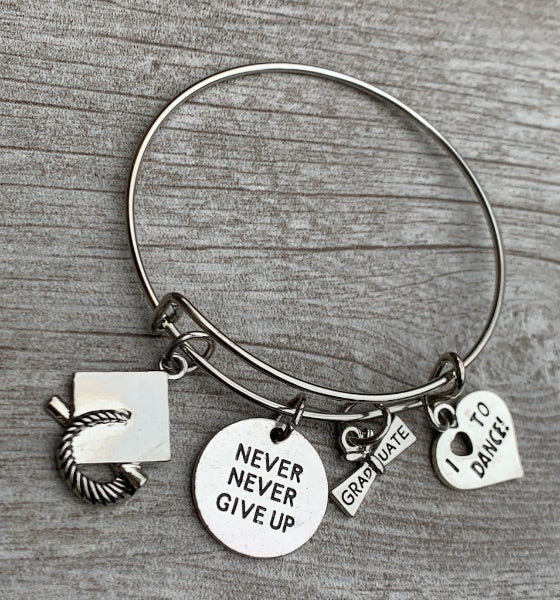 Dance Graduation Bracelet, Never Give Up