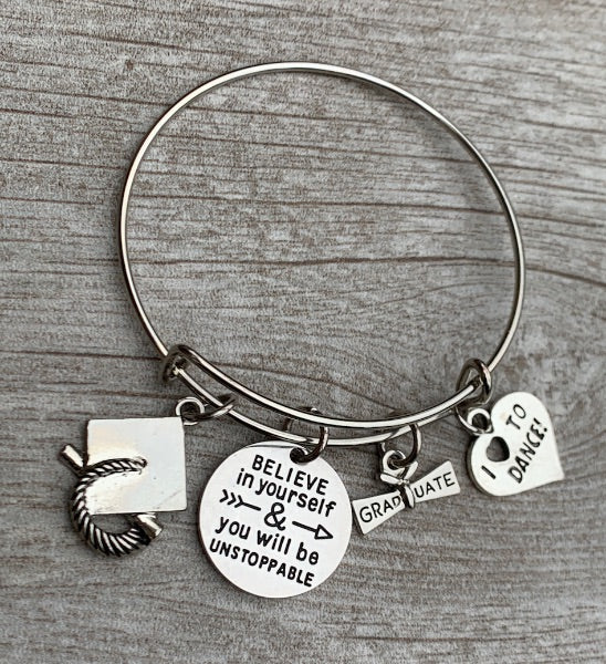 Dance Graduation Bracelet -Believe in Yourself
