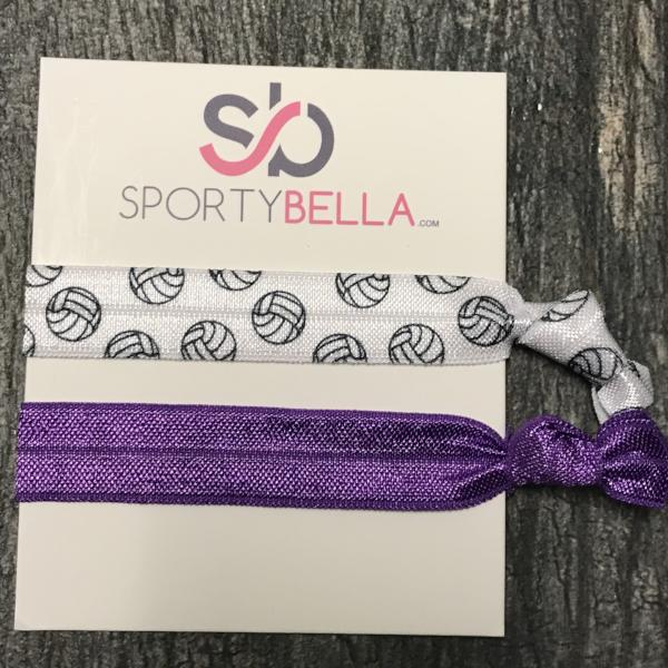 Volleyball Hair Ties - Purple